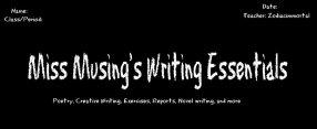 Miss Musings writing essentials